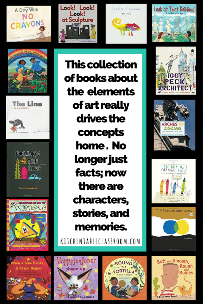 These books about the elements of art are an easy piece of an art education foundation!