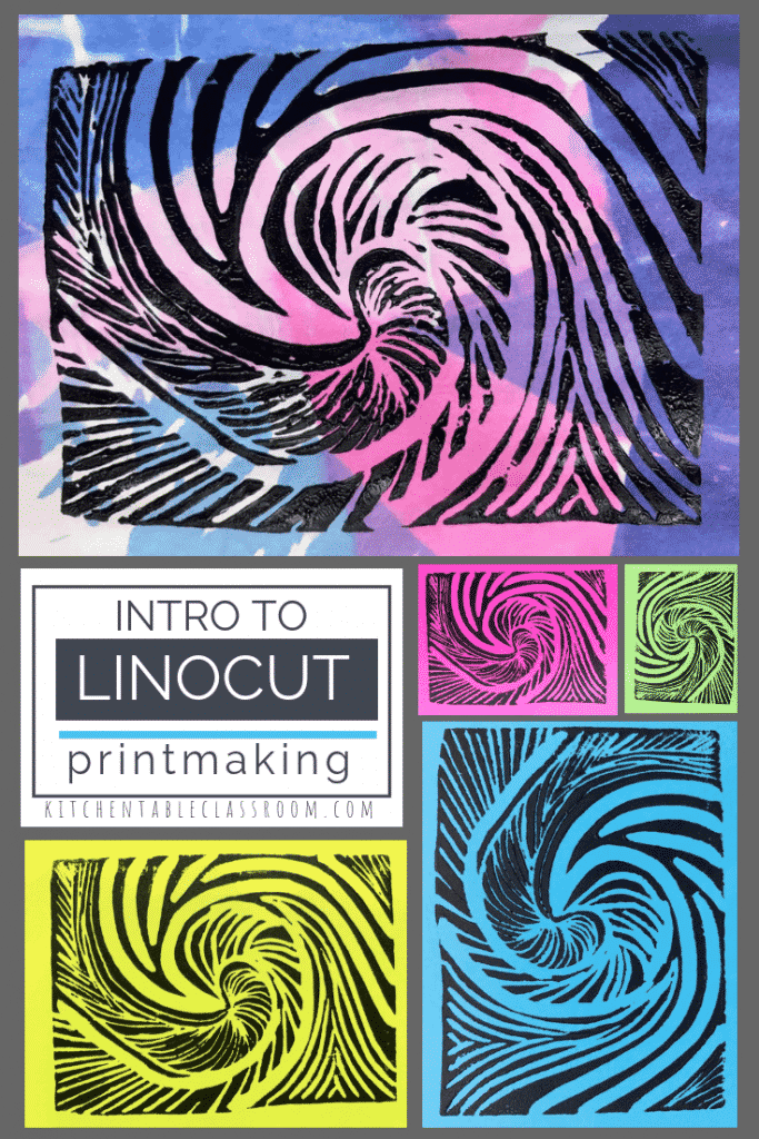 New surfaces make the age old art of lino printmaking so much safer and just as fun.  Get started with this project perfect for the linocut art beginner!