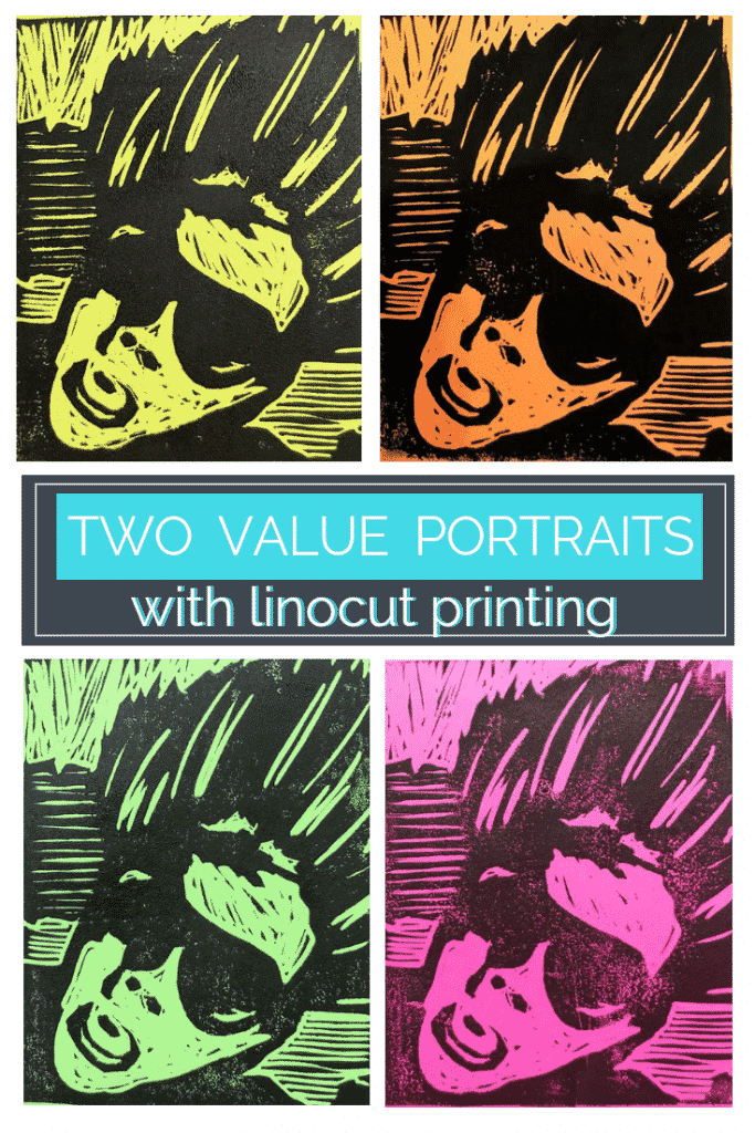 Reduce a photo to two values using free technology to create these awesome linocuts.  Learn all about linoleum printmaking in this step by step tutorial.