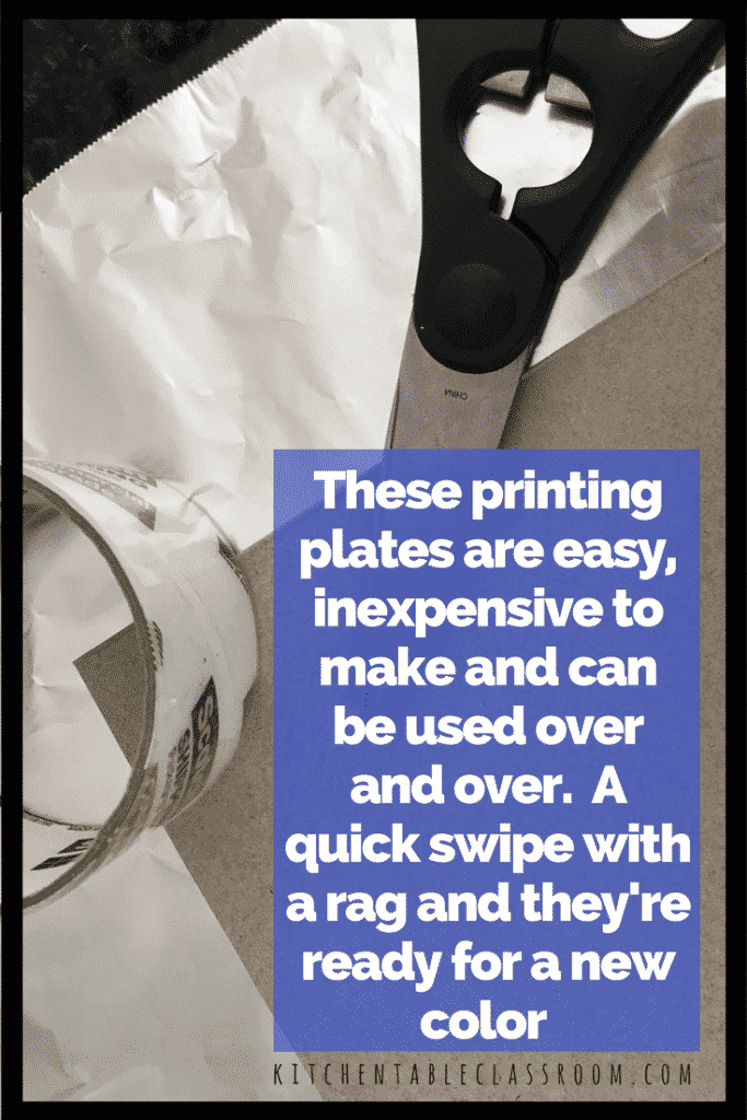 These are foil print monoprints. That means you will only to be able to make one of each image.The foil doesn't make the print but creates a printing plate.