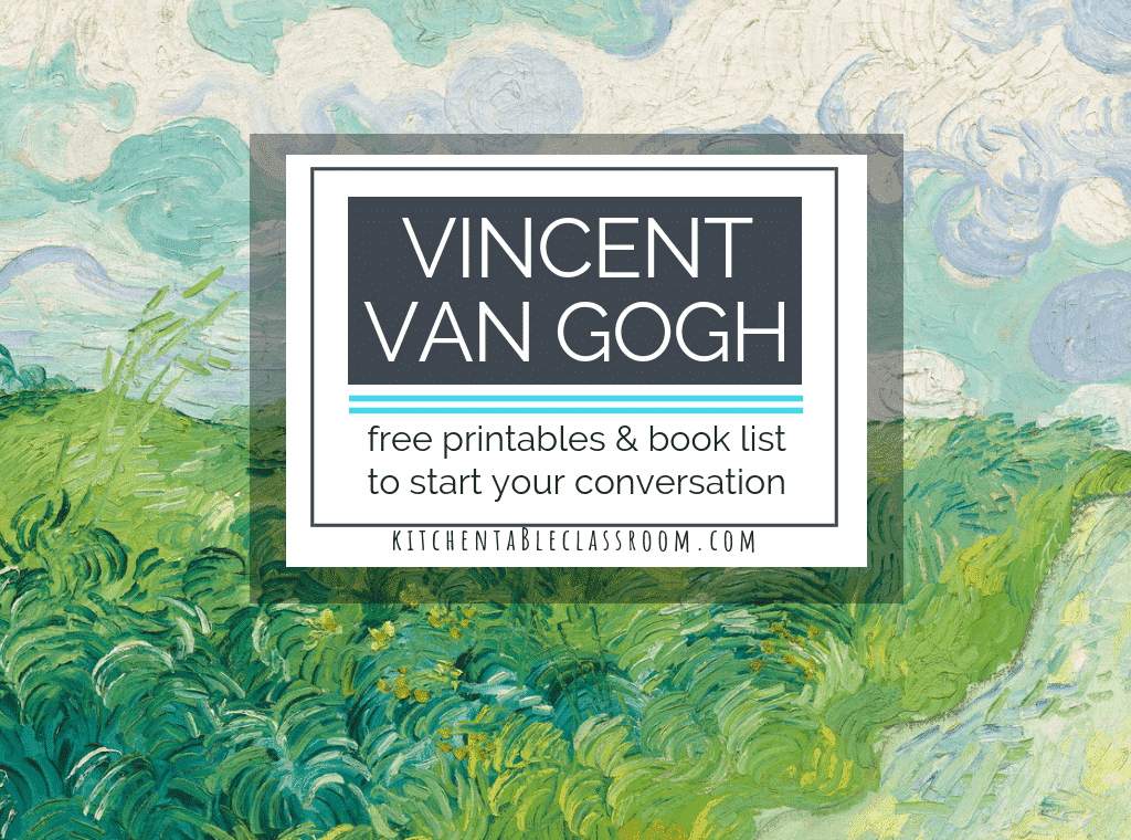 Introduce art history to your child with these VIncent Van Gogh for kids resources. Books and free Van Gogh printables make teaching art history easy!