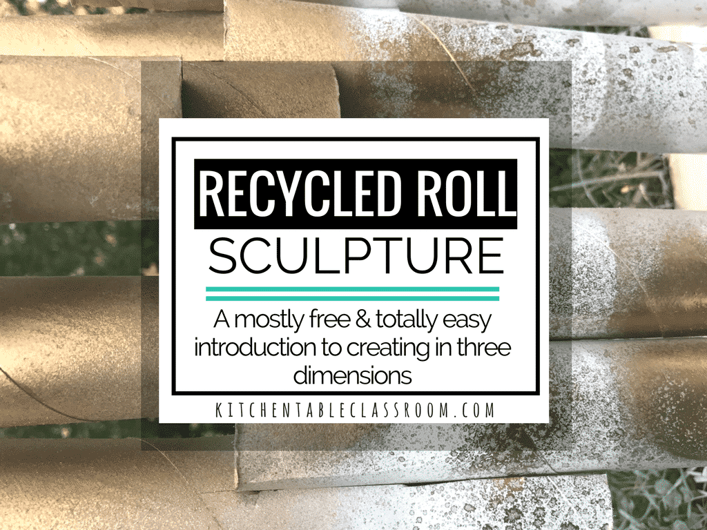 Recycled Sculpture- Building Up with Cardboard Tubes - The