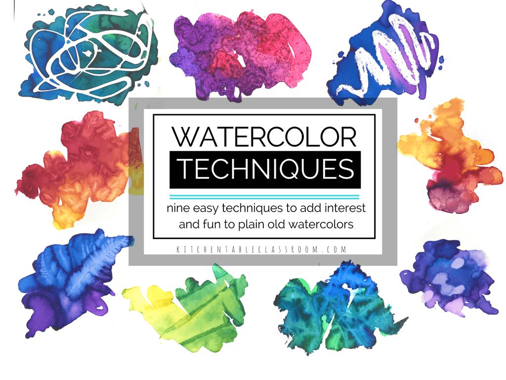 Nine creative watercolor techniques to add interest and for Creative watercolor painting techniques