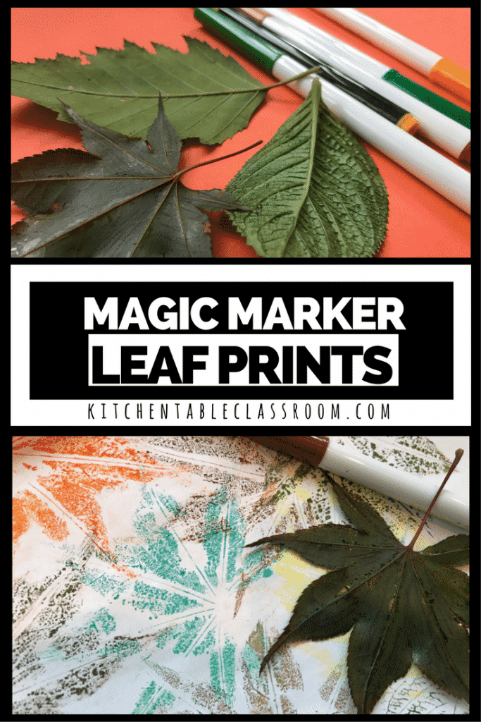 Making stuff feels good.  Even when, or sometimes especially when, it's as simple as these little leaf prints ! All you need is washable markers and leaves!
