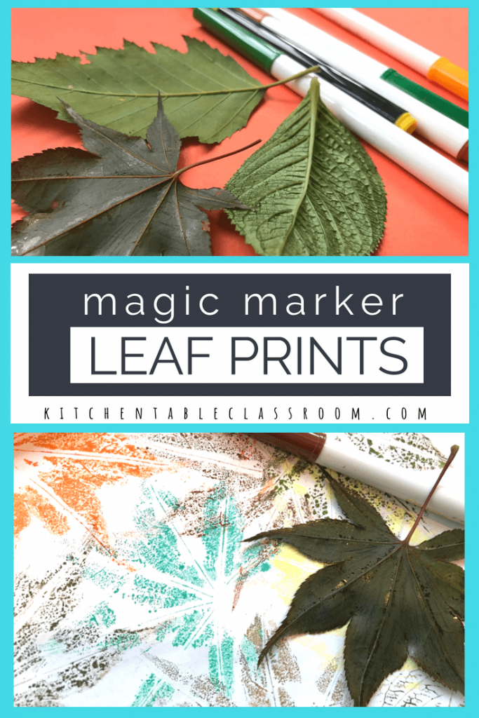 Making stuff feels good.  Even when, or sometimes especially when, it's as simple as these little leaf prints! All you need is washable markers and leaves!