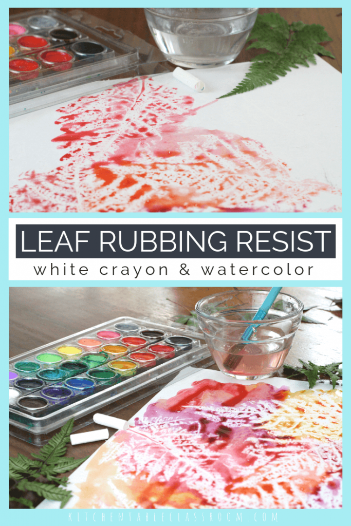 This simple leaf rubbing project is a new twist on an old favorite. This leaf art takes simple materials and a few minutes to create this bold nature art!