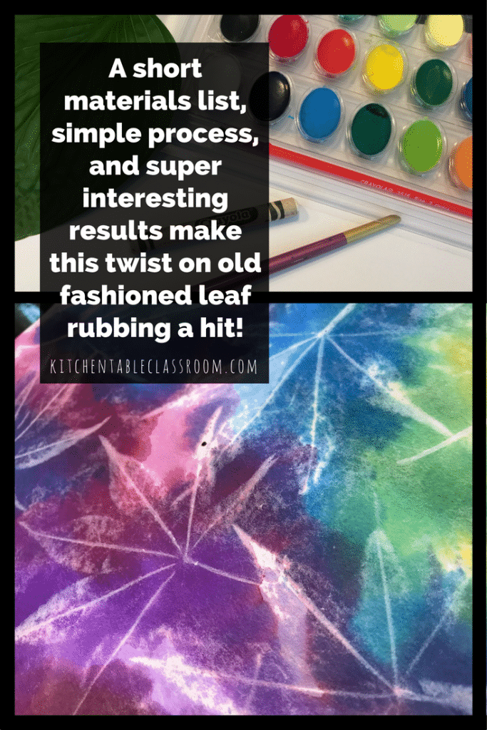 This simple leaf rubbing project is a new twist on an old favorite. Short materials list and an easy process make this an ideal project for any age or skill level.