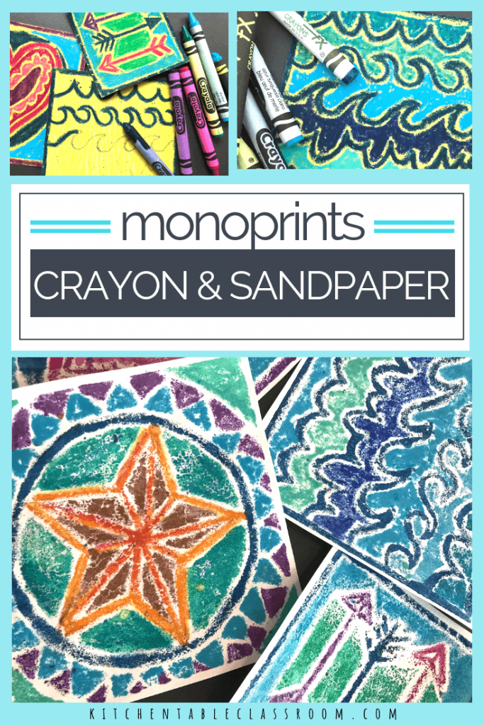 This monoprint project is full of texture & color. Grab the crayon and sandpaper and dig into this fun printmaking process for kids!
