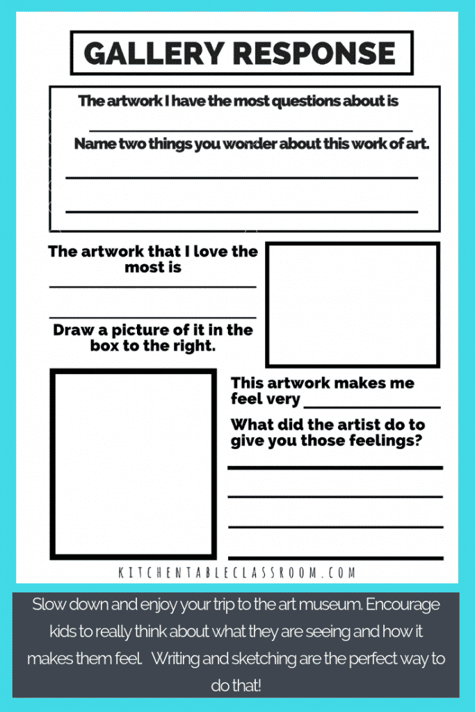Make visiting an art museum with you kiddo a fun & engaging learning experience. Use this printable museum activities with kids and head out to the museum!