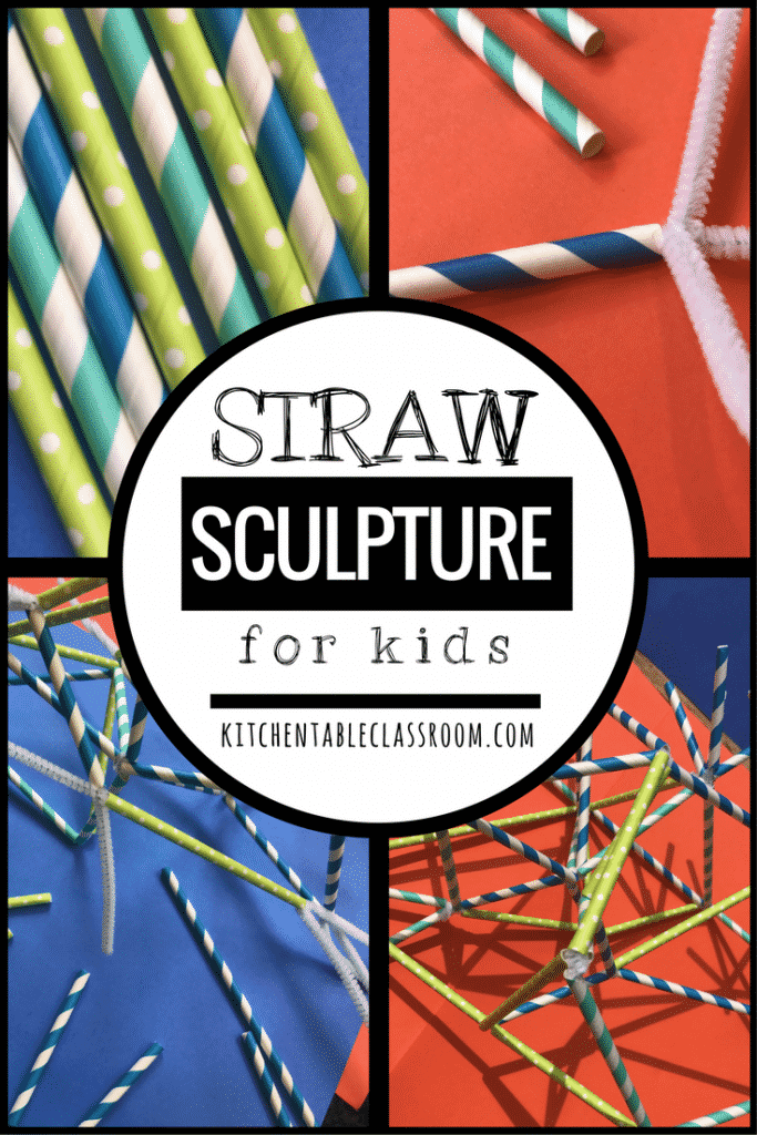 Building structures is something kids innately enjoy. Think of the hours spent on Lego's, blocks, and Lincoln logs. Building is fun and satisfying. Now we're going to replace the blocks with straws, yes, straws. These fun, sculptures for kids come together super quickly due to their construction with just pipe cleaners and straws. That's all ya' need!