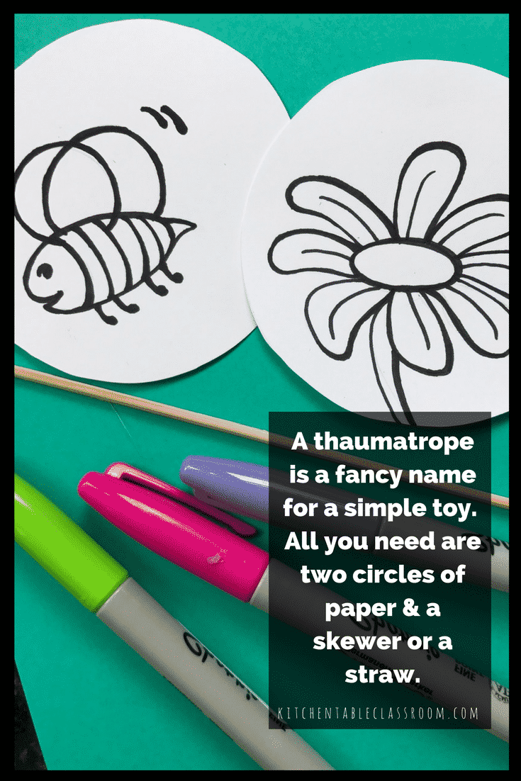 photograph relating to Thaumatrope Printable known as Creating A Thaumatrope-A Straightforward Animation Toy with a Extravagant