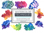 watercolor techniques feature tiny