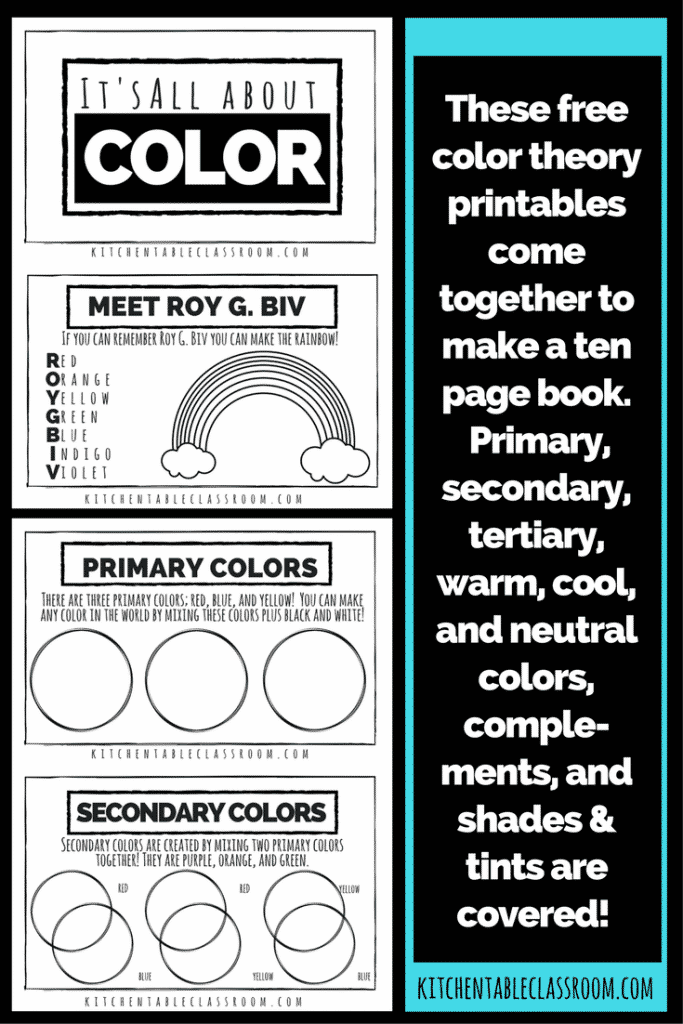 Color Theory for Kids- A Free Printable Book - The Kitchen Table ...