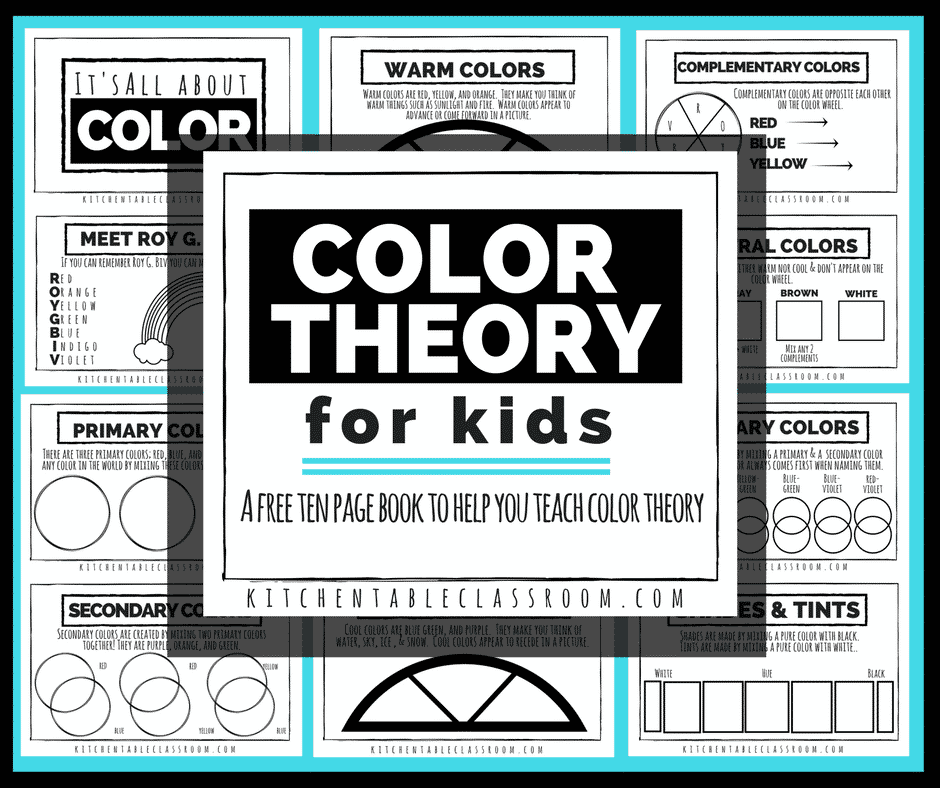 color theory for kids a free printable book the kitchen table classroom - Color Theory Book