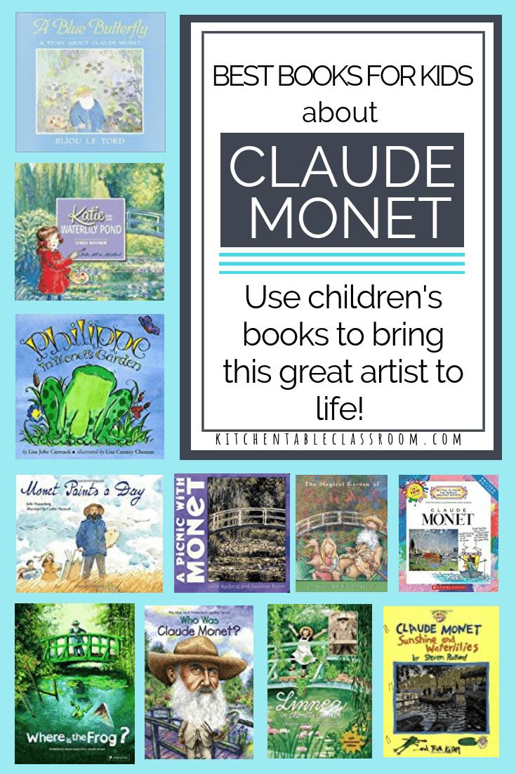 claude monet for kids monet books art history for kids