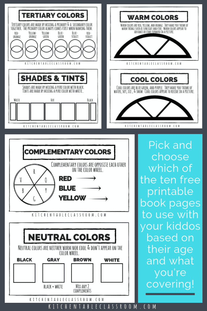 image relating to Printable Color Wheel Worksheet named Coloration Basic principle for Young children- A Absolutely free Printable Reserve - The Kitchen area