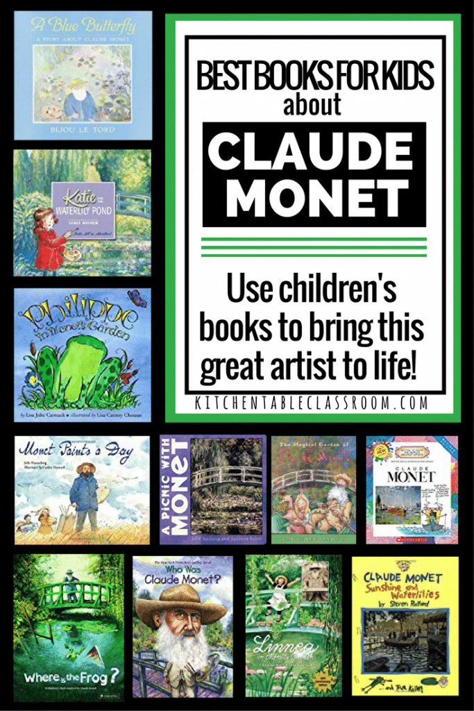 Water lilies, cathedrals, bridges, and haystacks; this is the stuff of Claude Monet. It's pretty stuff that translates perfectly to working with kids!