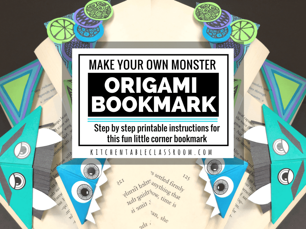 DIY Origami Bookmark Printable Step By Instructions