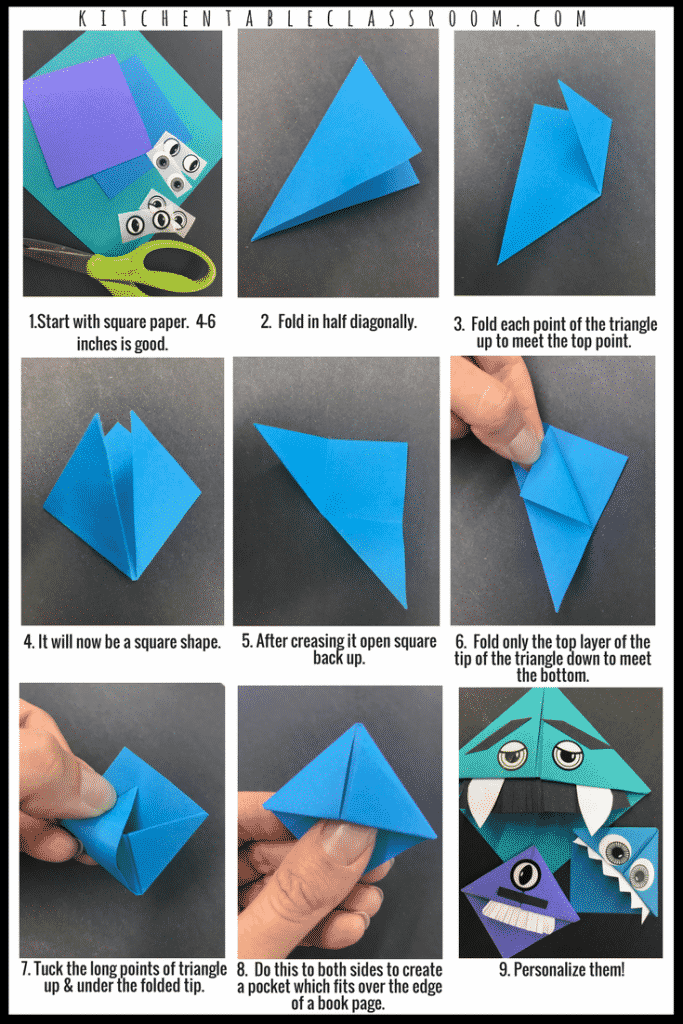 This Little Origami Bookmark DIY Has Just A Few Easy Steps And Offer Lots Of Possibility