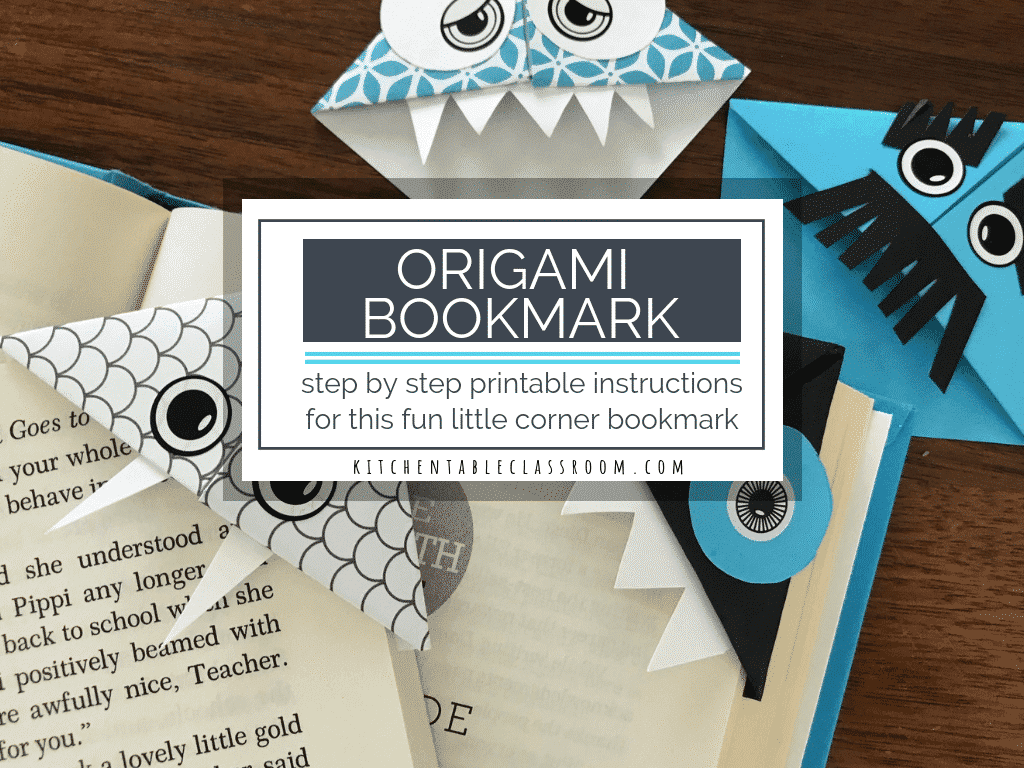 photo regarding Corner Bookmarks Printable referred to as Do it yourself Origami Bookmark- Printable Action as a result of Move Guidelines
