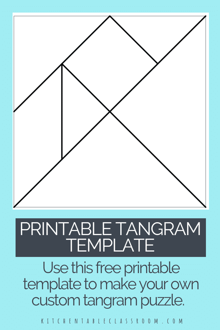 image about Printable Tangram titled printable tangrams tangram template Do-it-yourself tangram collage 1