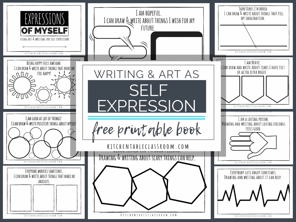 Self Expression Through Writing Art Free Self Esteem Worksheets