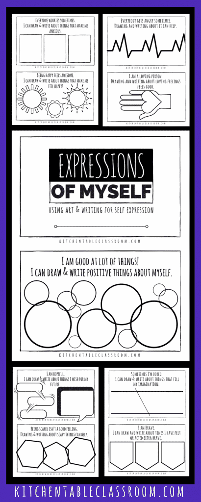Creating art as a form of self expression has countless benefits. Sounds good, right? But where to start....Check out this free printable book!