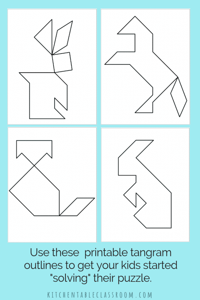 photo regarding Printable Tangram identified as Printable Tangrams - An Very simple Do it yourself Tangram Template - The