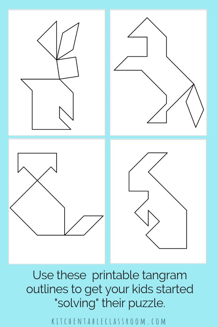 Tangram Template | Tangram Printable Tangram Template Diy Tangram Collage 5 The