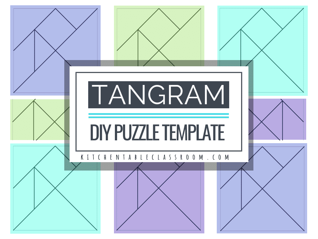 Tangram Template | Printable Tangrams An Easy Diy Tangram Template The Kitchen