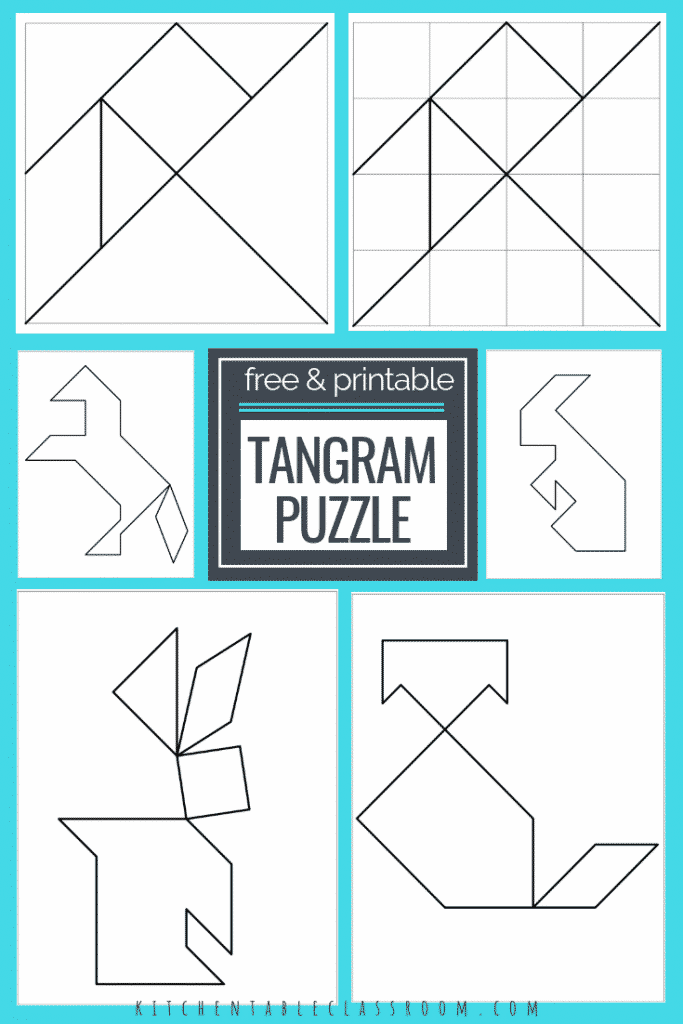 graphic relating to Tangram Puzzles Printable known as Printable Tangrams - An Simple Do it yourself Tangram Template - The