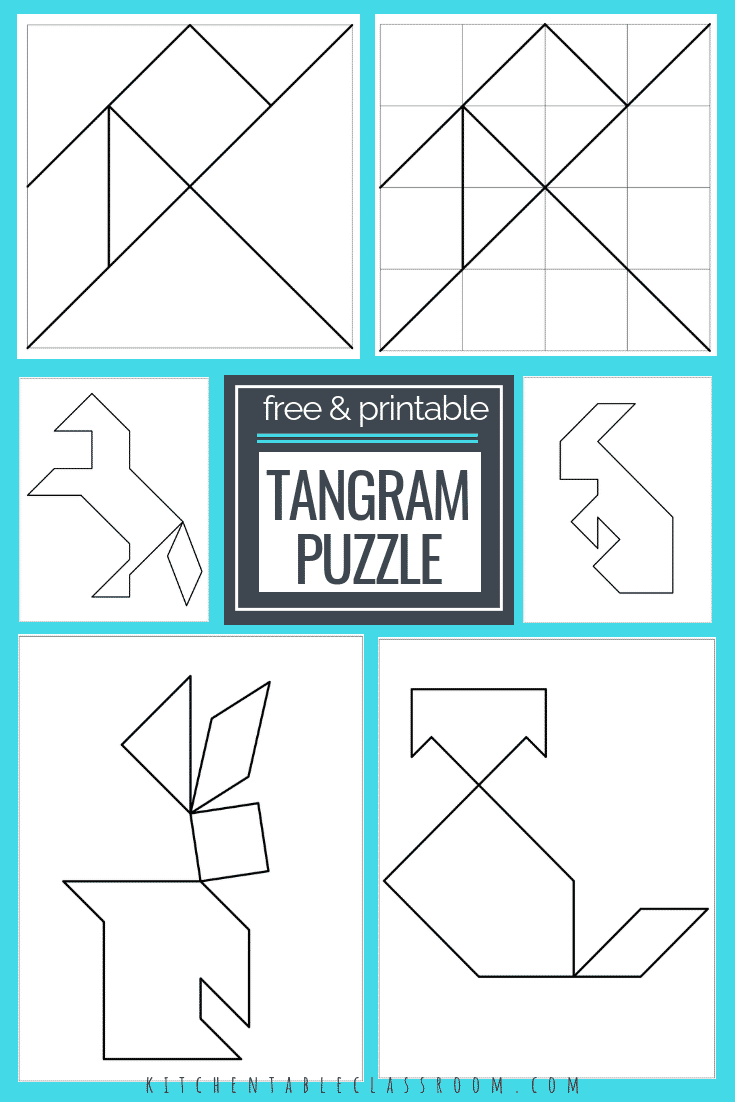 photograph regarding Printable Twitter Template known as tangram printables tangram template Do it yourself tangram Collage