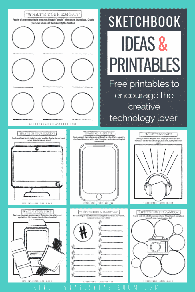 image about Printable Technology identified as Sketchbook Options and Printables for the Technologies Associate