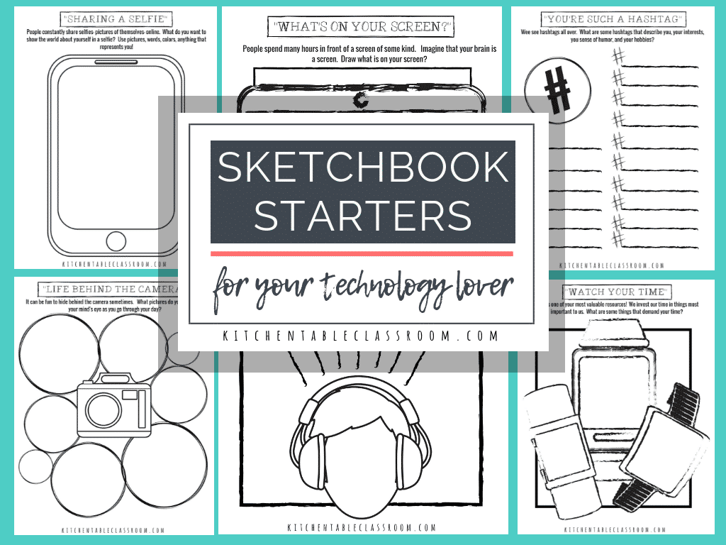 image about Printable Technology known as Sketchbook Designs and Printables for the Know-how Spouse