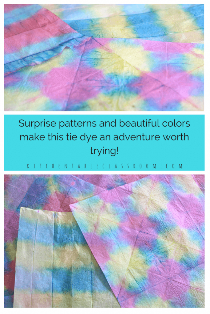 tie dye with tissue paper easy brilliant beautiful the kitchen table classroom. Black Bedroom Furniture Sets. Home Design Ideas
