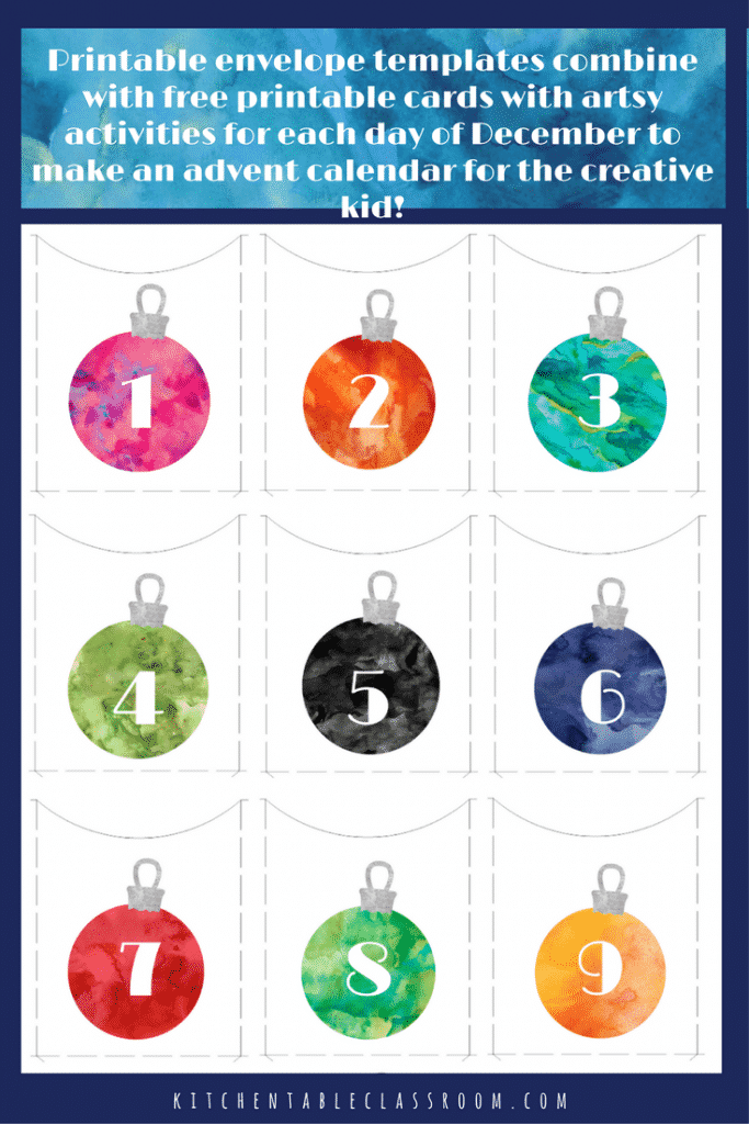 This free printable advent calendar is designed to be full of creative & easy holiday activities that your kiddo can do independently or as a family!