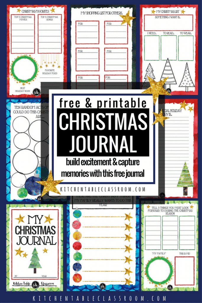 Presents, parties,& sweets! Let's channel some of that Christmas excitement and make something? This free printable Christmas book is the perfect answer!