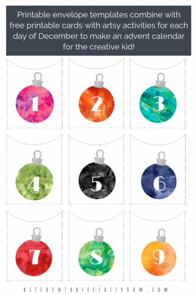 Make your own advent calendar with this free printable. This DIY advent calendar will encourage creativity by providing a prompt, project, or activity!