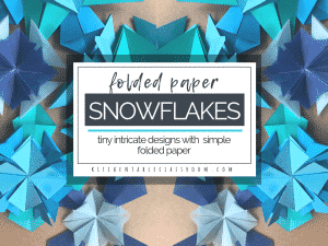 Learn a few simple paper folds to make beautiful folded paper snowflakes. Use as snowflake ornaments or adorn a card. SO pretty and all you need is paper!
