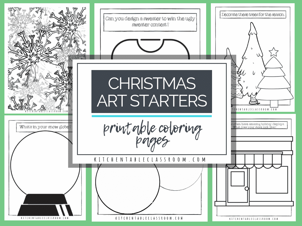 christmas coloring pages free printable sketchbook prompts