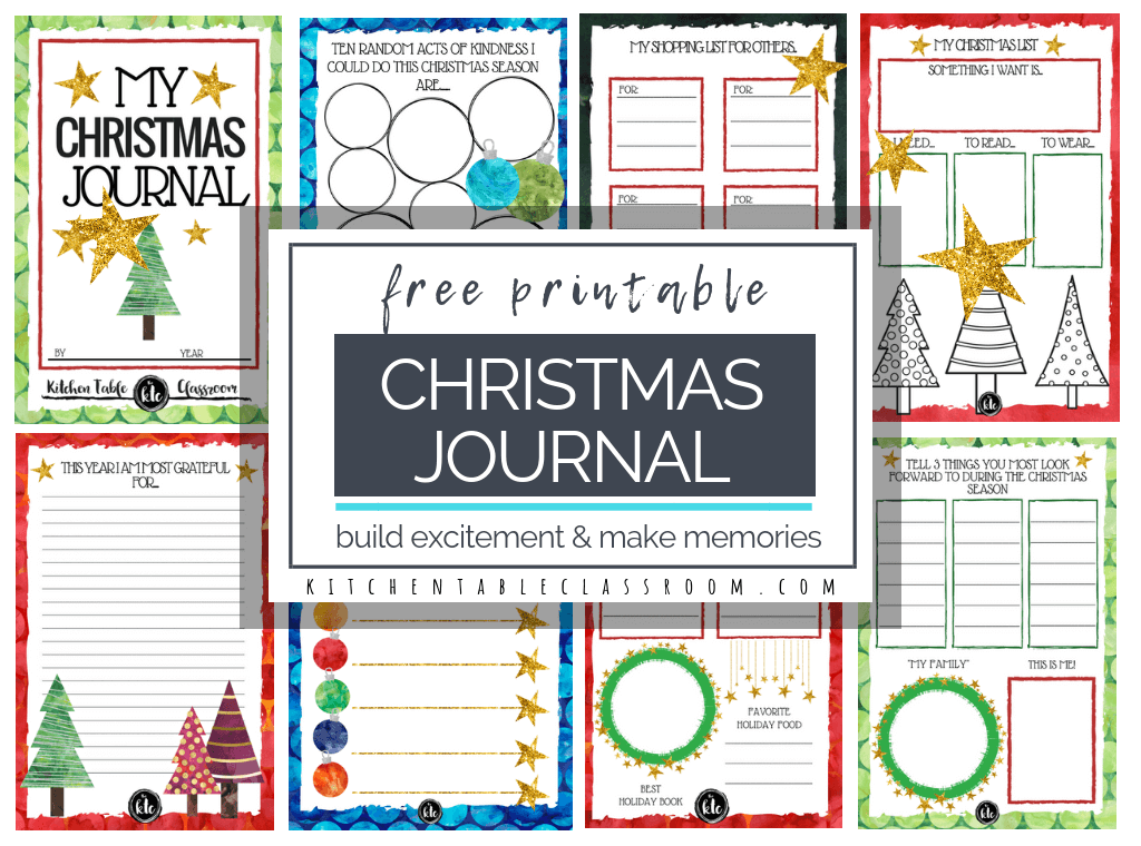 Use these free Christmas printables to build excitement & record some memories. Create a sweet Christmas book that will help remember the fun of the season!