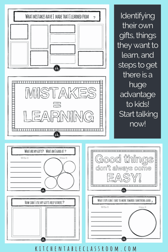 Growth Mindset For Kids Printable Book Growth Mindset