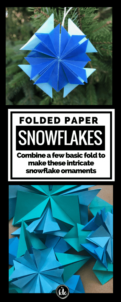 Some things are worth being precise. Follow a few simple directions and you get beautiful folded paper snowflakes to use as ornaments and beyond. So pretty!