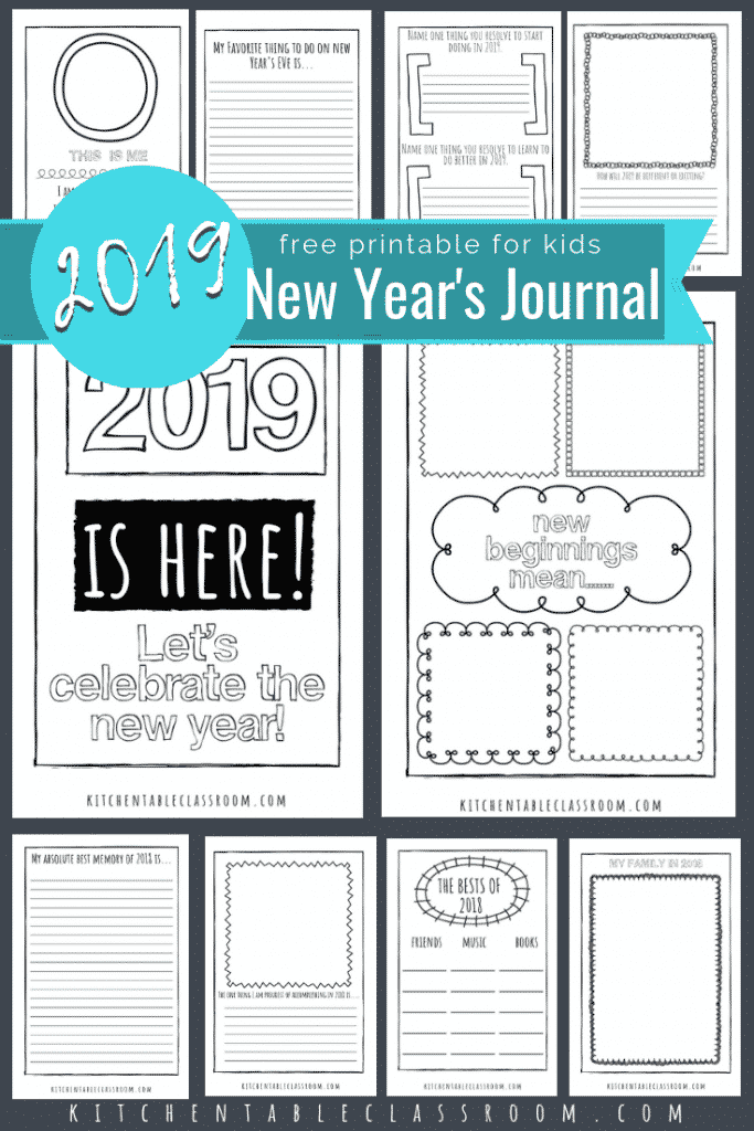 New Years Coloring Pages Free Printable Journal For Kids The