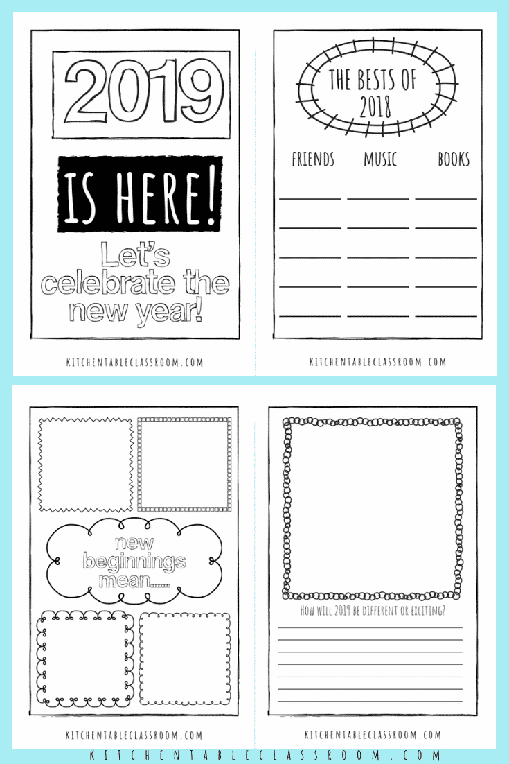 new years coloring pages new years journal new years actvities for ...