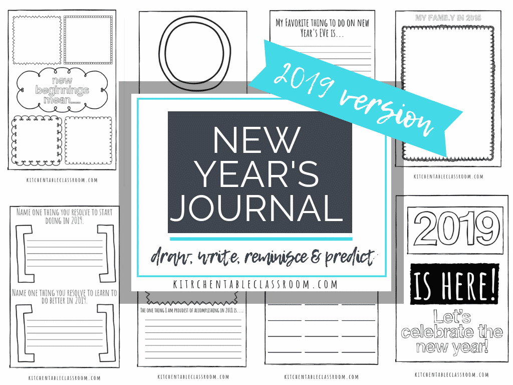 Welcome 2019 with these free New Year's coloring pages and journal prompts. Record, remember, and predict with these fun New Year's printables pages!