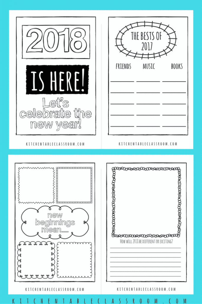 Welcome in 2018 with these free New Year's printable journal pages. Reminisce & record what happened in 2017 and make predictions & resolutions for 2018!