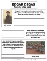 Degas printable PDF