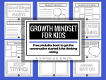 GROWTH MINDSET FOR KIDS pritnable book