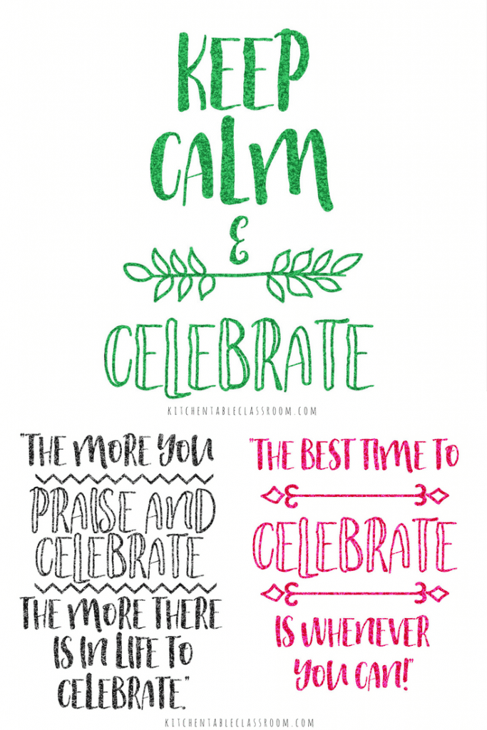 Celebrate? Who likes to celebrate? We all do, right? When life's circumstances are just right, anyway! These pretty, glittery (free) quotes about celebration are here to remind you there is always something to celebrate in every single day!